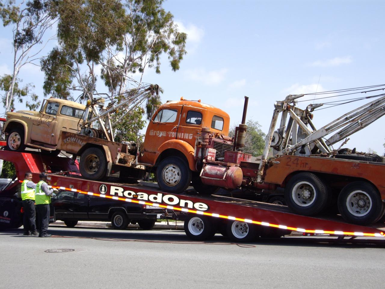 Our old tow trucks.